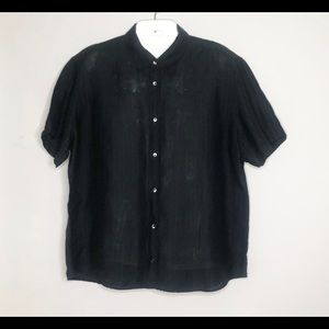 CALVIN KLEIN Modern Fit S/S Linen Button Up Shirt